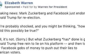 Ham tiền, Facebook chấp nhận cả quảng cáo bôi nhọ Mark Zuckerberg