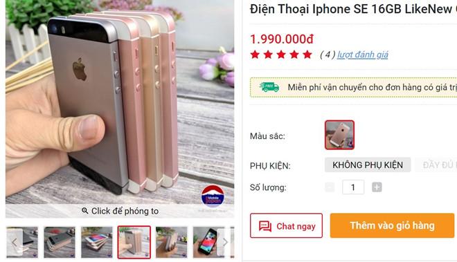 iPhone SE ve gia 2 trieu dong tai Viet Nam hinh anh 1