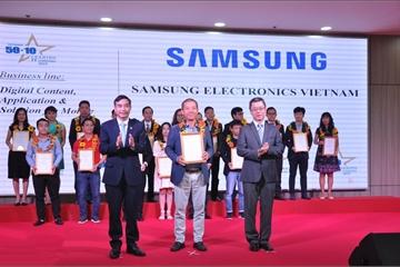 """Samsung Vina vào """"Top 50 doanh nghiệp Công nghệ Thông tin hàng đầu Việt Nam năm 2019"""""""