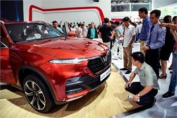 Xe VinFast hút khách xem ở Triển lãm ô tô Việt Nam 2019