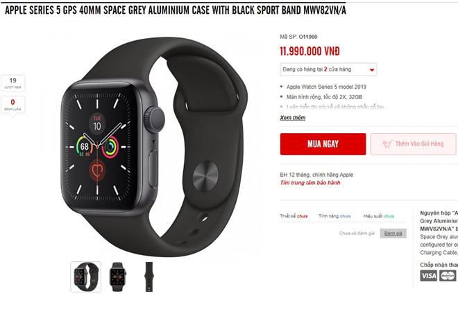 Apple Watch Series 5 chinh hang ve Viet Nam, gia tu 11,6 trieu dong hinh anh 1