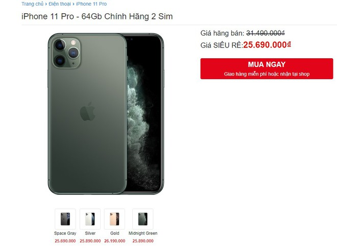 iPhone 11 Pro ve gia 25 trieu van ken khach tai Viet Nam hinh anh 1
