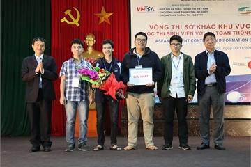 """Sinh viên Đại học Công nghệ dẫn đầu vòng sơ khảo """"Sinh viên với An toàn thông tin ASEAN 2019"""""""