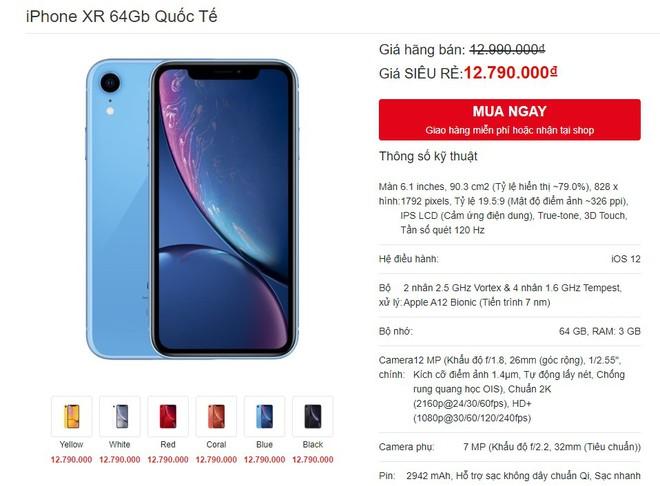 iPhone XR xuong gia duoi 11 trieu tai Viet Nam hinh anh 1