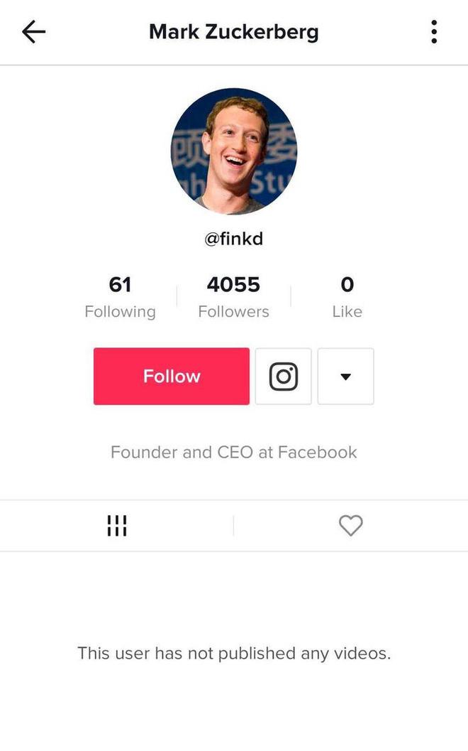 Phát hiện Mark Zuckerberg bí mật chơi TikTok, chuyên theo dõi người nổi tiếng và các boss chó cưng - Ảnh 1.