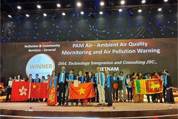 Giải pháp giám sát chất lượng không khí PAM Air của Việt Nam đoạt giải thưởng APICTA 2019
