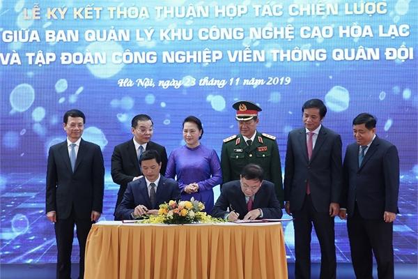 Viettel và Ban Quản lý khu Công nghệ cao Hòa Lạc ký thỏa thuận hợp tác chiến lược