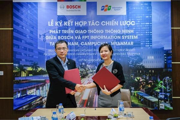 Tập đoàn Bosch hợp tác cùng FPT IS cung cấp giải pháp giao thông thông minh cho Việt Nam, Campuchia và Myanmar