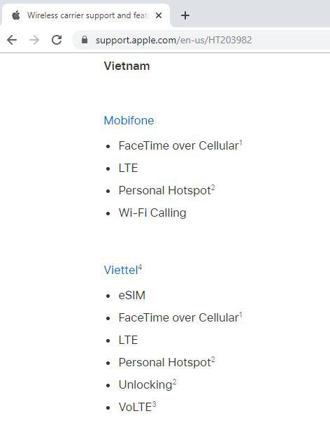 Đây là nhà mạng Việt Nam duy nhất được Apple công bố có thể dùng VoLTE và eSIM - Ảnh 1.