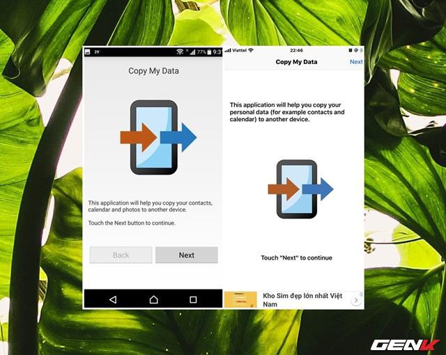 Chuyển nhanh dữ liệu qua lại giữa iOS và Android với Copy My Data - Ảnh 5.