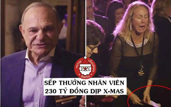 Góc ấm lòng: Ông già Noel phiên bản 'xịn đét', thưởng 230 tỷ đồng cho nhân viên dịp Giáng sinh vì không nghĩ ra được cách nào hay hơn để tri ân!