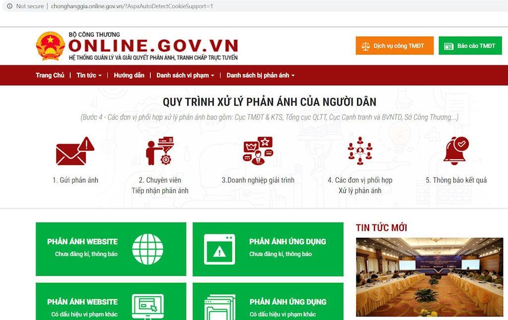Người dân, doanh nghiệp có thể gửi phản ánh, tranh chấp trực tuyến trong thương mại điện tử trên chonghanggia.online.gov.vn | Khai trương Hệ thống quản lý và giải quyết phản ánh, khiếu nại, tranh chấp trực tuyến trong thương mại điện tử