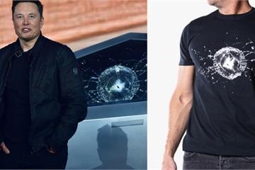 Biến bi kịch thành lợi nhuận: Tesla bán áo thun in hình cửa kính xe Cybertruck bị vỡ