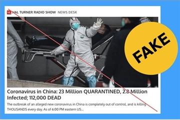 Fake news lan rộng cùng virus corona