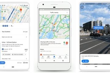Bản đồ Google Maps thay giao diện