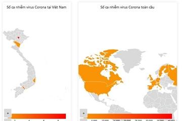 Địa chỉ cập nhật số người nhiễm 2019-nCoV liên tục, nhanh chóng