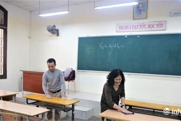 Hà Nội: Nhiều trường học tổng vệ sinh phòng dịch Covid-19