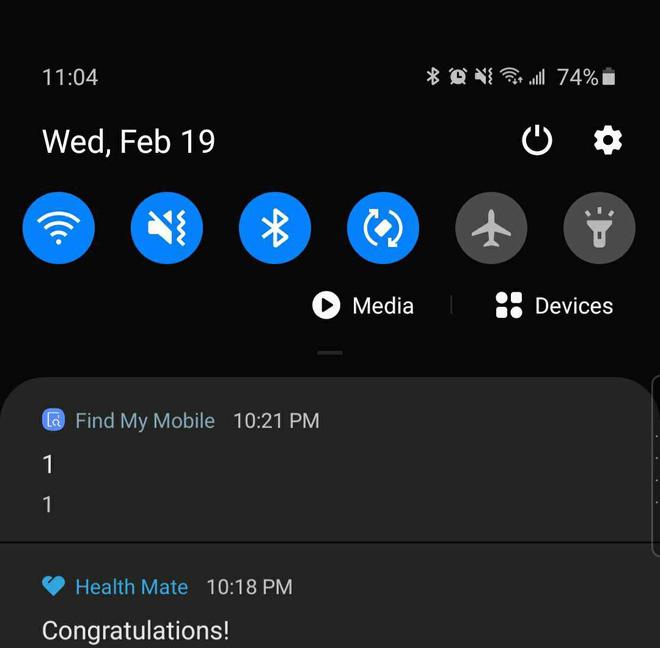 Samsung khiến người dùng trên toàn thế giới hoảng sợ, khi gửi đến một thông báo kỳ lạ chỉ có số 1 - Ảnh 1.