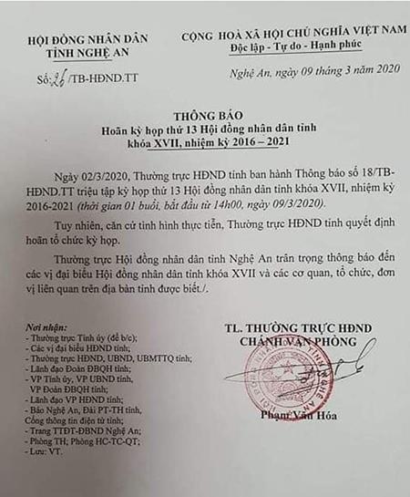 Cách ly tại nhà lãnh đạo tỉnh Nghệ An tiếp xúc với đoàn Bộ KH-ĐT