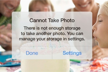 Hướng dẫn giải phóng bộ nhớ iPhone để lưu ảnh, ứng dụng