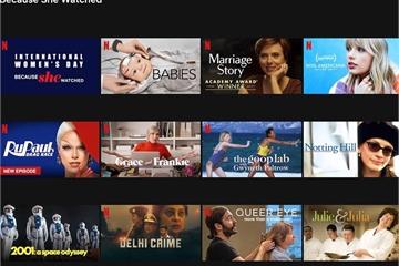 """Nền tảng Netflix công bố danh sách các bộ phim truyền cảm hứng """"Vì cô ấy đã xem"""""""
