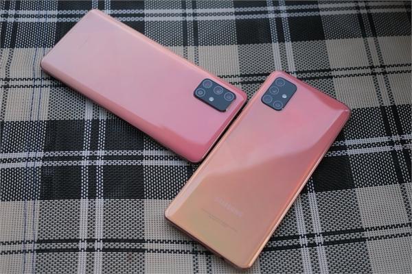 Cận cảnh bộ đôi Galaxy A51 và A71 màu hồng cho ngày 8/3