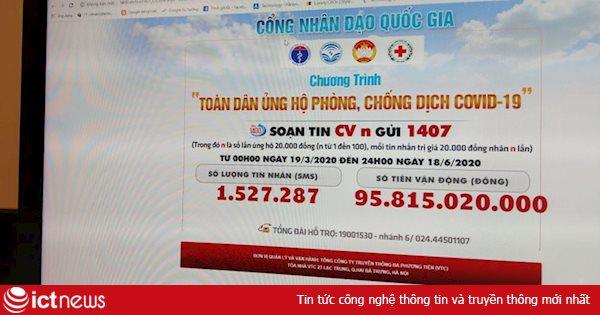 Đã có gần 96 tỷ đồng ủng hộ quỹ phòng chống dịch Covid-19 qua Cổng nhân đạo 1407