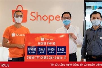 Shopee hỗ trợ máy trợ thở, phòng áp lực âm, đồ bảo hộ y tế và khẩu trang N95 chống dịch Covid-19