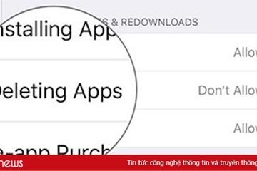Hướng dẫn ngăn xóa ứng dụng trên iOS 13