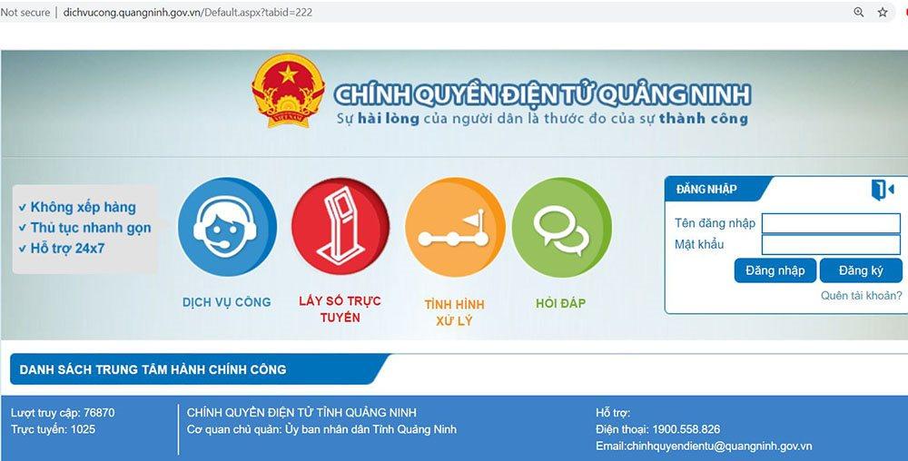 Người dân Quảng Ninh lấy số giải quyết thủ tục hành chính qua mạng | Quảng Ninh: Đặt lịch giải quyết thủ tục hành chính qua mạng