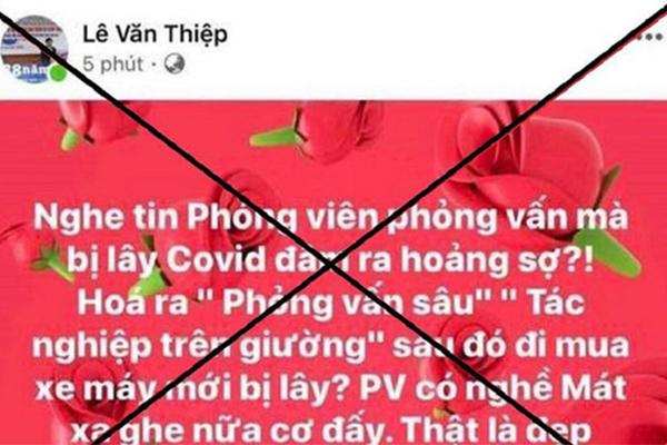 Xử phạt luật sư Lê Văn Thiệp 8 triệu đồng vì đăng thông tin sai sự thật