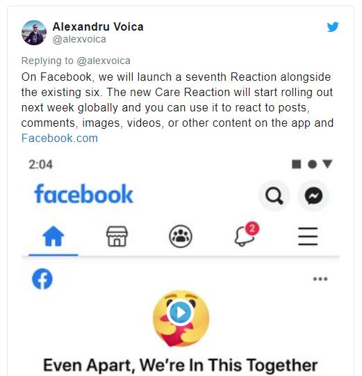 Facebook ra mắt biểu tượng Care thể hiện sự quan tâm trong đại dịch