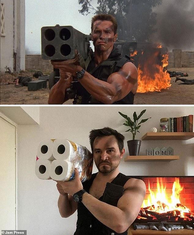 """[Chùm ảnh vui] Chết cười với các """"thánh cosplay giá rẻ"""" tận dụng mọi đồ vật trong nhà để mô phỏng lại những cảnh phim bom tấn - Ảnh 10."""