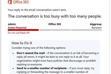 """Microsoft chặn tính năng """"reply-all"""" để tránh bão email"""