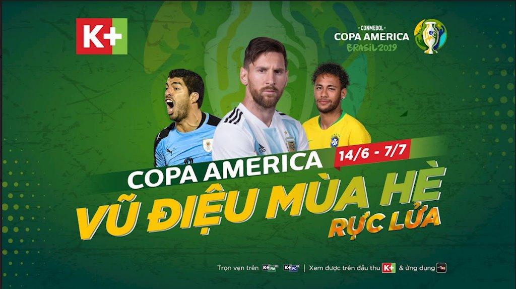 K+ mua độc quyền giải bóng đá Nam Mỹ Copa America 2019 - ảnh 1