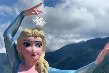 Tượng Elsa 'đột biến' ở Sa Pa bị yêu cầu tháo dỡ
