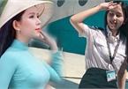 Nhan sắc trong veo của nữ sinh Học viện Hàng không thi HHVN 2020