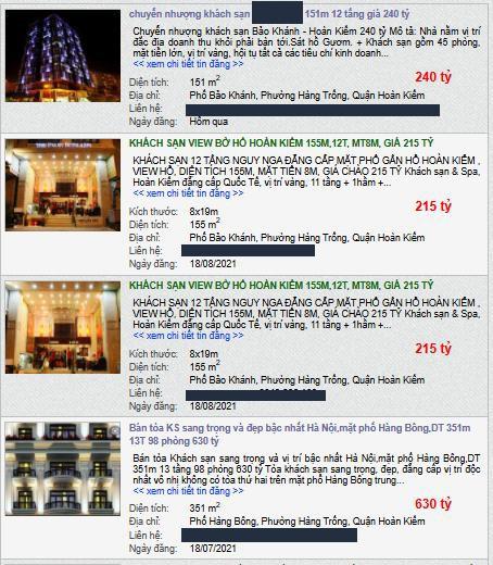 Giữa mùa dịch khách sạn phố cổ Hà Nội rao bán gần 2 tỷ đồng/m2 ảnh 2