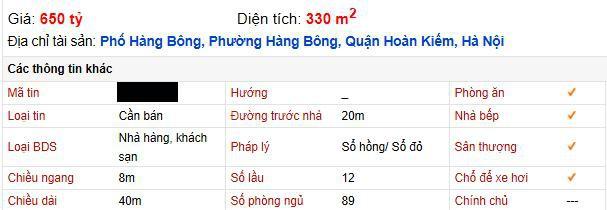 Giữa mùa dịch khách sạn phố cổ Hà Nội rao bán gần 2 tỷ đồng/m2 ảnh 3