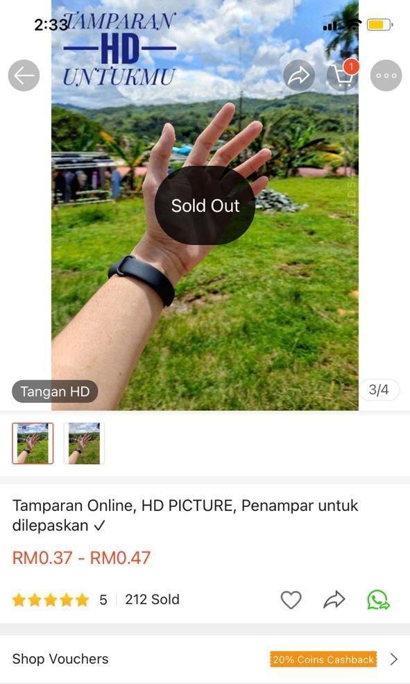 """Một người Malaysia bán """"cái tát ảo"""" trên ứng dụng mua sắm, bất ngờ là có cả trăm người mua ảnh 3"""