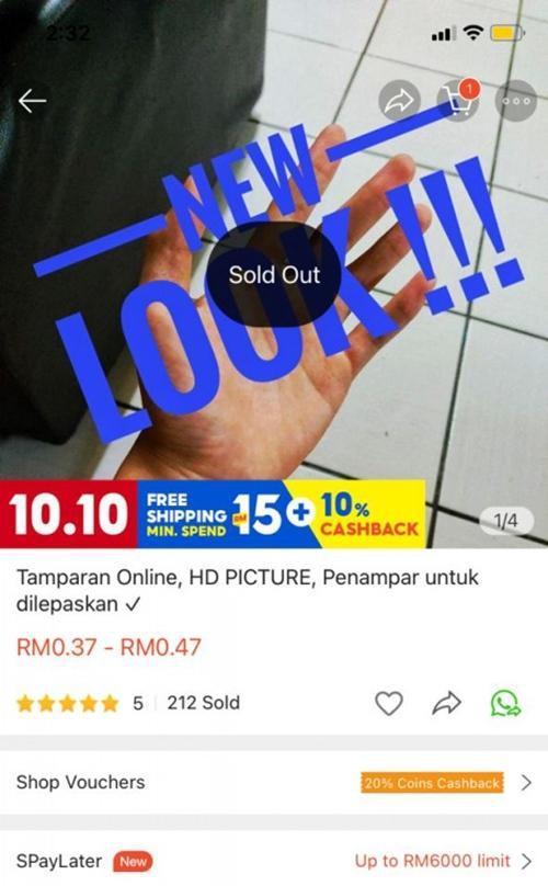 """Một người Malaysia bán """"cái tát ảo"""" trên ứng dụng mua sắm, bất ngờ là có cả trăm người mua ảnh 1"""
