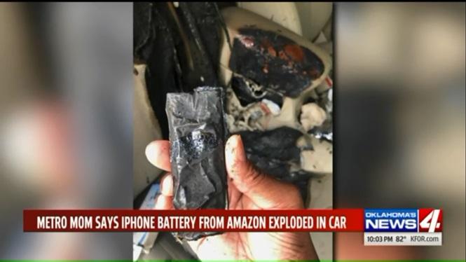 Cháy ôtô do pin điện thoại iPhone tự nổ bên trong khoang cabin - ảnh 2