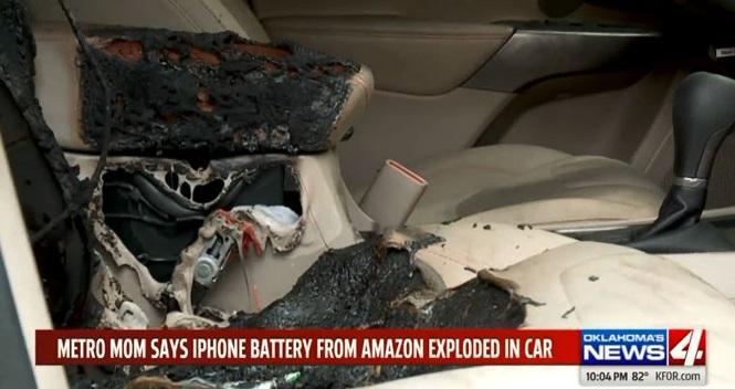 Cháy ôtô do pin điện thoại iPhone tự nổ bên trong khoang cabin - ảnh 1