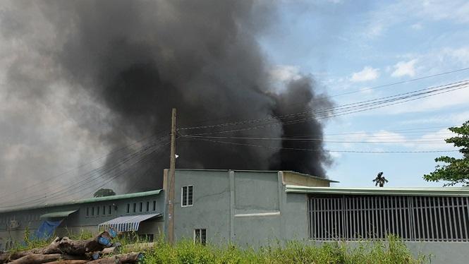 Cháy lớn nhiều nhà xưởng ở Sài Gòn, khói đen bốc ngút trời - ảnh 5