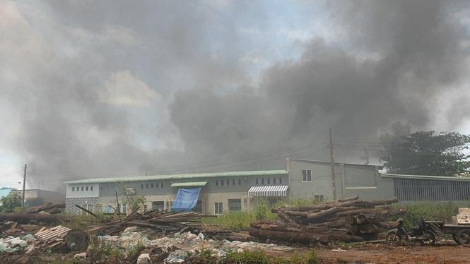 Cháy lớn nhiều nhà xưởng ở Sài Gòn, khói đen bốc ngút trời - ảnh 1