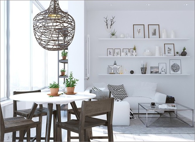 Những mẫu phòng ăn đơn giản, sang trọng vạn người mê - ảnh 4
