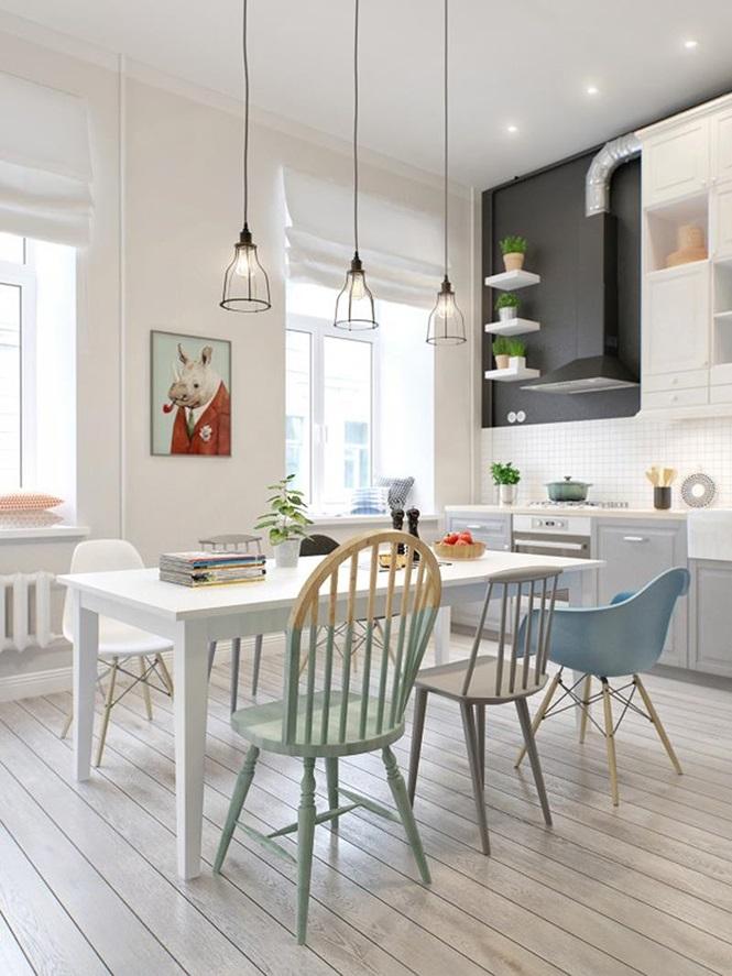 Những mẫu phòng ăn đơn giản, sang trọng vạn người mê - ảnh 6