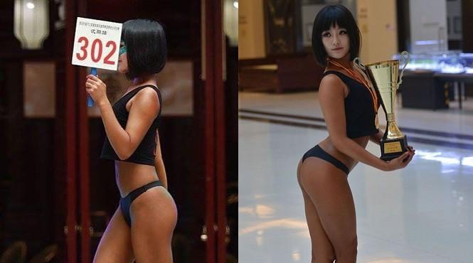 Đường cong gây chao đảo của 'Hoa hậu siêu vòng ba' Trung Quốc - ảnh 1