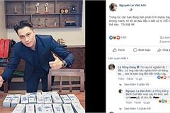 Việt Anh khoe bàn đầy tiền sau khi bị dân mạng chê bai nhan sắc thẩm mỹ