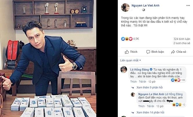 Việt Anh khoe bàn đầy tiền sau khi bị dân mạng chê bai nhan sắc thẩm mỹ - ảnh 3